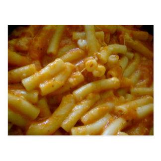 macaroni dinner postcard