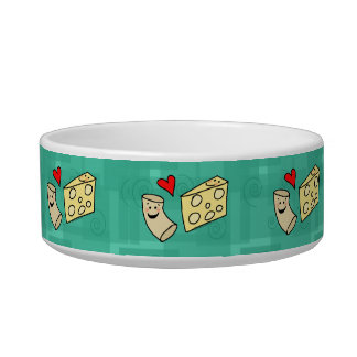 Macaroni Loves Cheese, Cute Mac N Cheese Cartoon Bowl