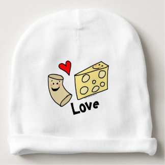 Macaroni Loves Cheese, Heart Girl/Boy Funny Cute Baby Beanie