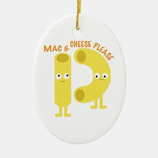 macaroni_mac and cheese please ceramic ornament