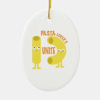 macaroni_pasta lovers unite ceramic ornament