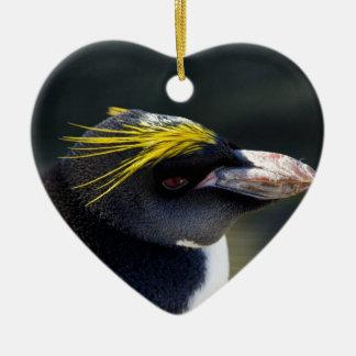 Macaroni Penguin Ceramic Ornament