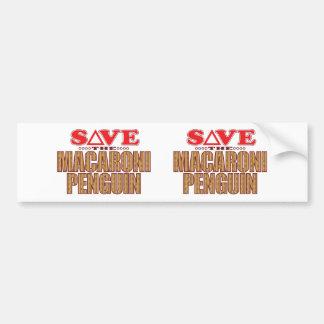Macaroni Penguin Save Bumper Sticker