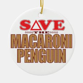 Macaroni Penguin Save Ceramic Ornament