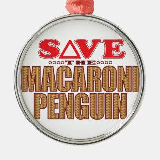 Macaroni Penguin Save Metal Ornament