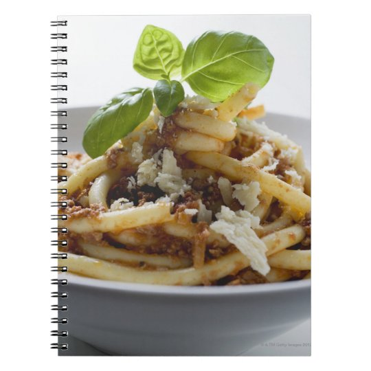 Macaroni with mince sauce and cheese notebook