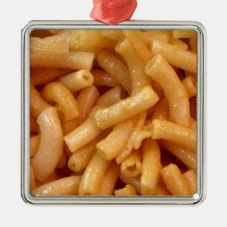 Macaroni's and cheese metal ornament