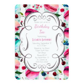 Macarons And A Decorative Frame BirthdayTea Card