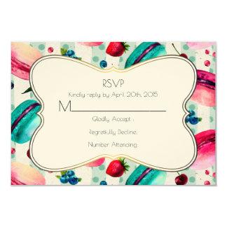Macarons And A Decorative Frame RSVP Card