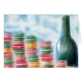 Macarons and Wine Note Card