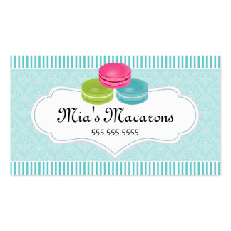 Macarons Bakery Double-Sided Standard Business Cards (Pack Of 100)
