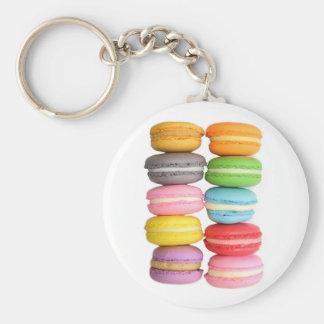 Macarons Basic Round Button Keychain