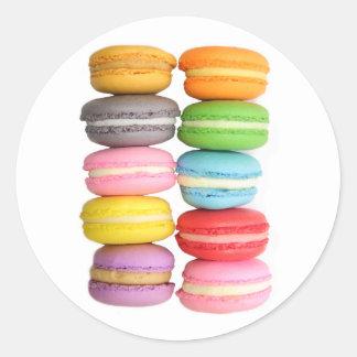 Macarons Classic Round Sticker