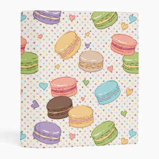 Macarons,cookies,french pastries,food hipster mini binder