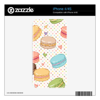 Macarons,cookies,french pastries,food hipster,then decals for iPhone 4S