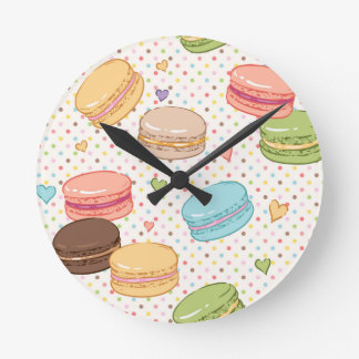 Macarons,cookies,french pastries,food hipster,then round clock