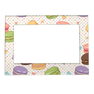 Macarons,cookies,french pastries,food hipster,tren magnetic photo frame
