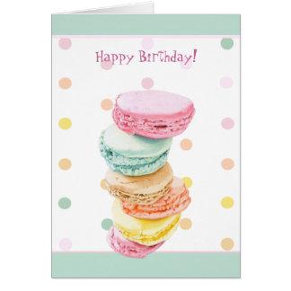 Macarons dots Birthday Card