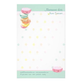Macarons dots Stationery