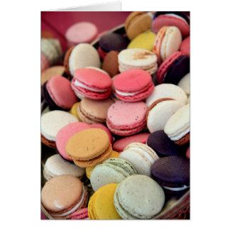 Macarons en diversos colores felicitacion