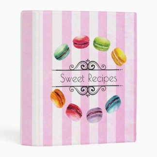 Macarons en pasteles franceses del círculo el | en mini carpeta