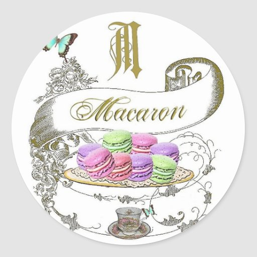 Macarons French Inspired Stickers