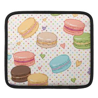 Macarons, galletas, pasteles franceses, funda para iPads