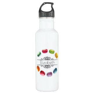 Macarons In A Circle Personalized Stainless Steel Water Bottle