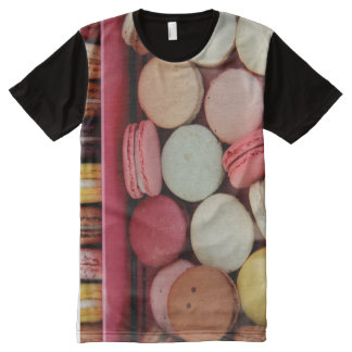 Macarons in different colors All-Over print t-shirt