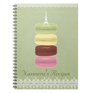 Macarons in Paris and Lace Spiral Notebook