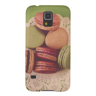 Macarons on Green Galaxy S5 Case