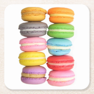 Macarons Paper Coasters Square Paper Coaster