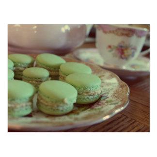 Macarons para la postal del té de tarde