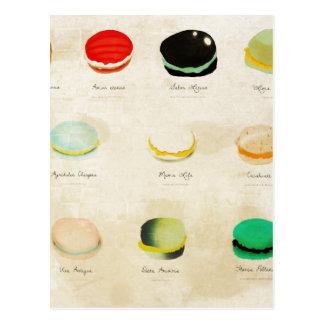 Macarons Paris Pastry Rupydetequila Postcard