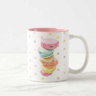 Macarons puntea la taza