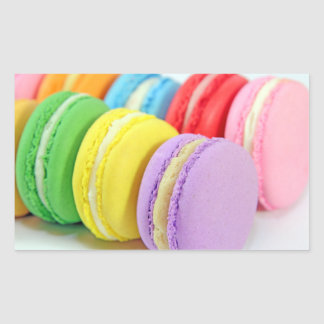 Macarons Rectangular Sticker
