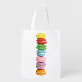 Macarons Reusable Grocery Bag Market Tote
