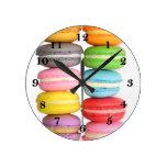 Macarons Round Clock
