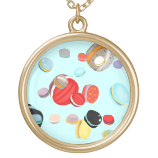 Macarons Round Pendant Necklace