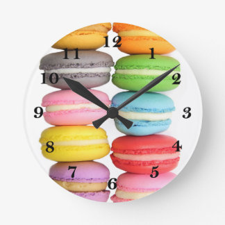 Macarons Round Wall Clocks