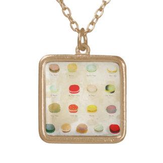 Macarons Square Pendant Necklace