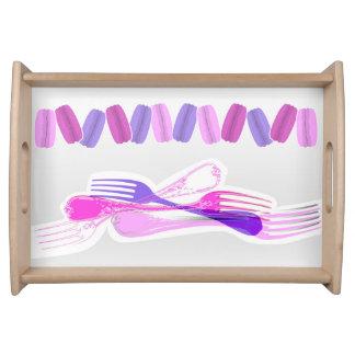 MACARONS & stylish FORKS Serving Platter
