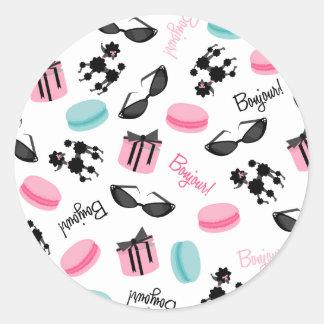 Macarons Sunglasses & Poodle Envelope Seal Sticker