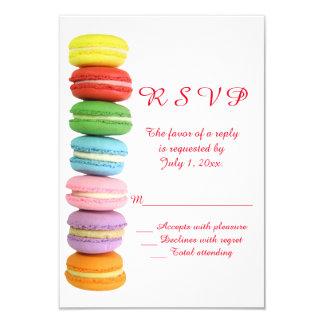 Macarons Wedding RSVP Card