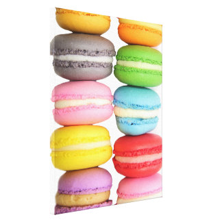 Macarons Wrapped Canvas Canvas Print