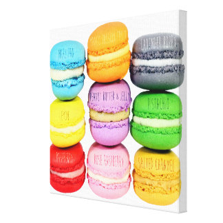 Macarons Wrapped Canvas