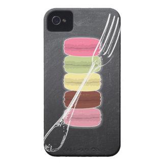 MACARONS y BIFURCACIONES elegantes en la pizarra iPhone 4 Case-Mate Carcasas