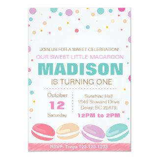 Macaroon Birthday Invitation