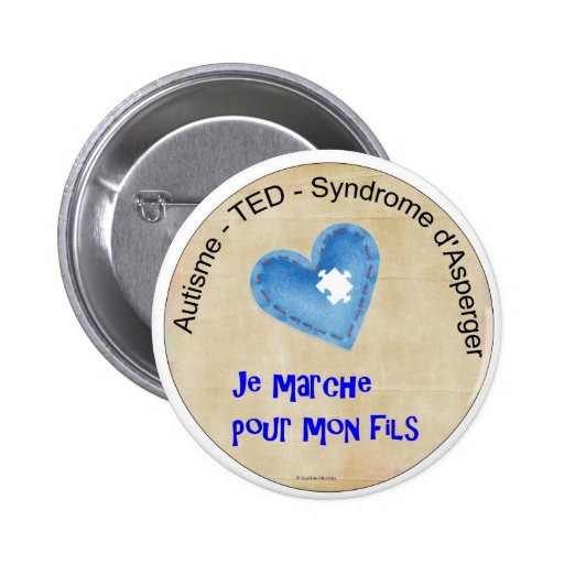 Macaroon I walk for my son Pinback Buttons