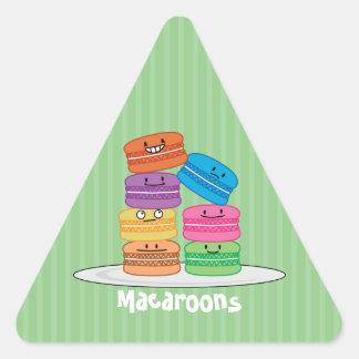 Macaroon Macaroons Cookie French sweet dessert Triangle Sticker